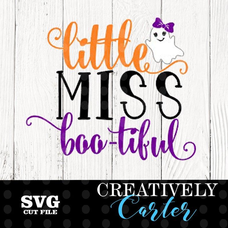 Little Miss Bootiful Svg Halloween Svg Boo Tiful Svg Etsy Little Miss Svg Bootiful