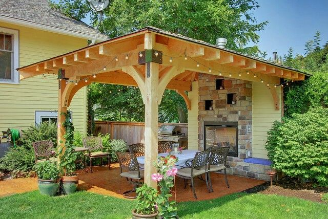 covered L shaped patio | Small backyard patio, Backyard ... on L Shaped Patio Ideas id=68863