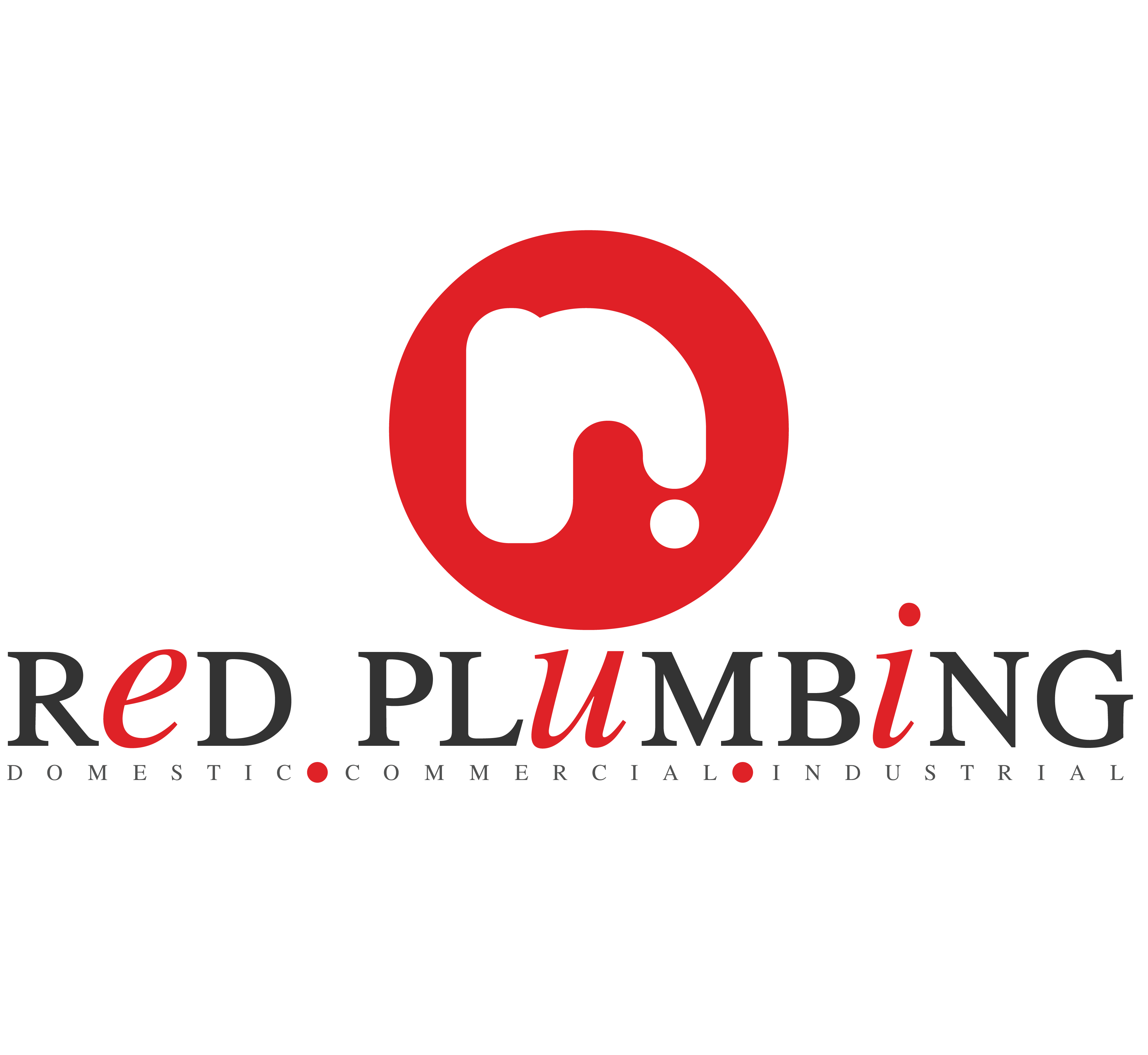 Logo design for Red Plumbing - marketed directly to domestic, industrial and commercial clientele.. #graphicdesign #logo