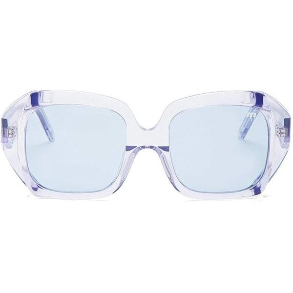 80ad33ec12eed Forever21 MELT Square Sunglasses ( 48) ❤ liked on Polyvore featuring  accessories