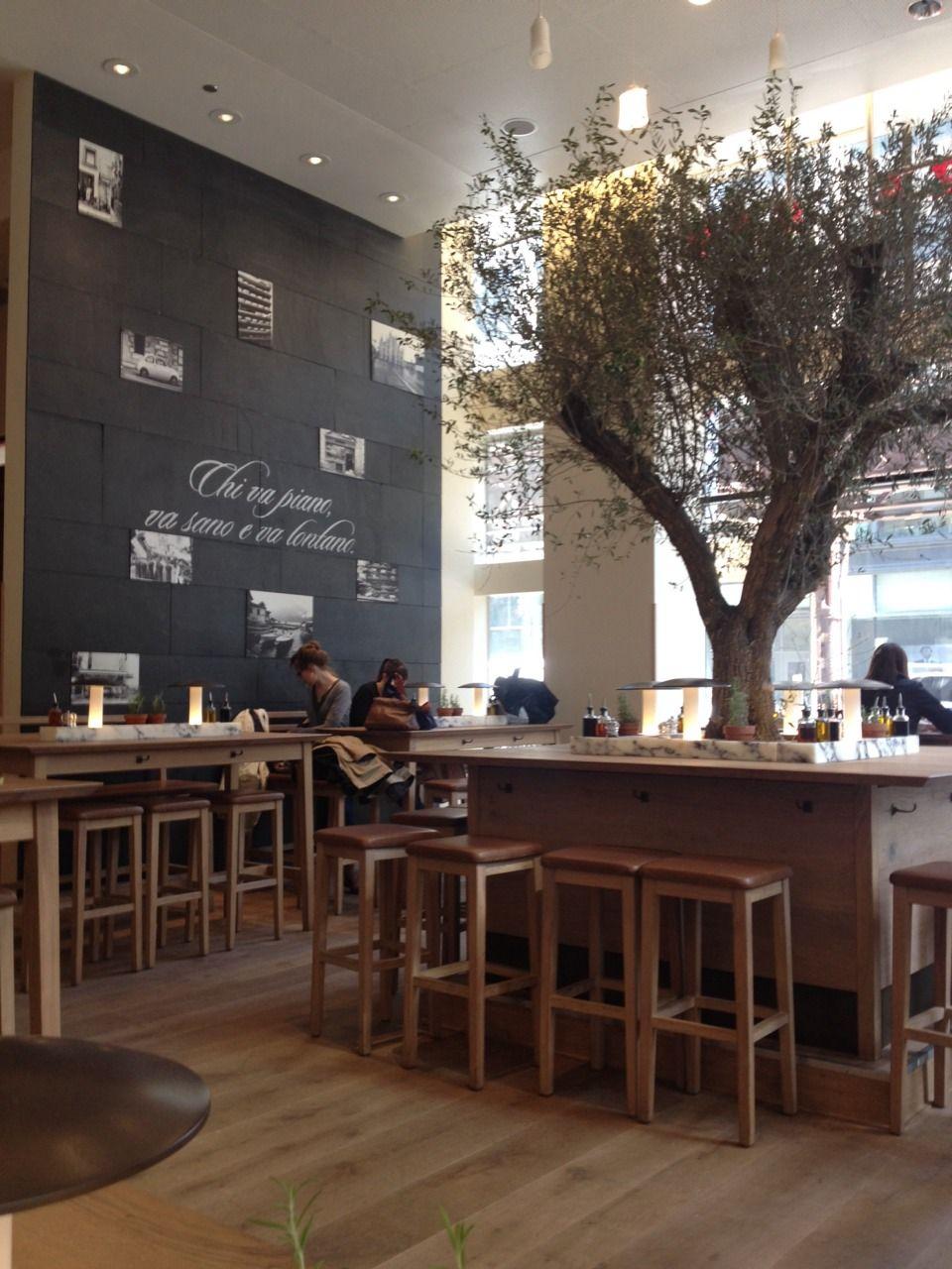 Decoraci n naturalista dentro de una cafeter a flowers deco nature coffeehouse deco - Diseno cafeterias modernas ...
