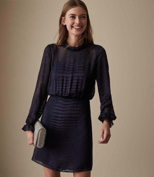 8f633e08698dd REISS - RENATA BURNOUT SNAKE PATTERN DRESS | Haute Couture | Dresses ...