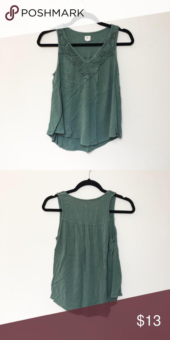 Super Cute Green Sleeveless Blouse Size SmallMedium
