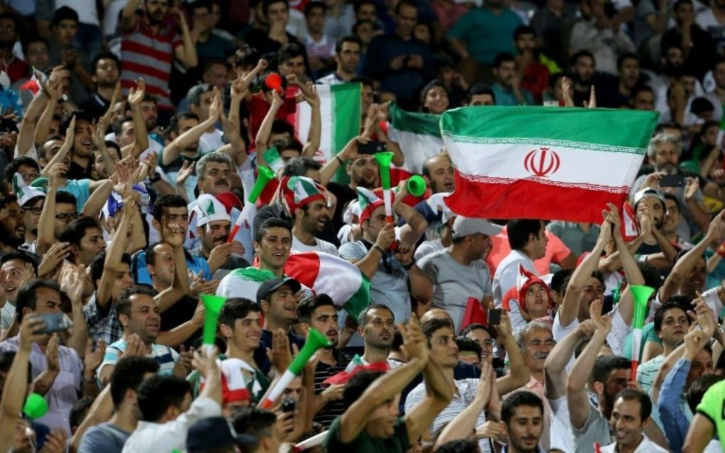 Iran says its been banned from hosting international soccer