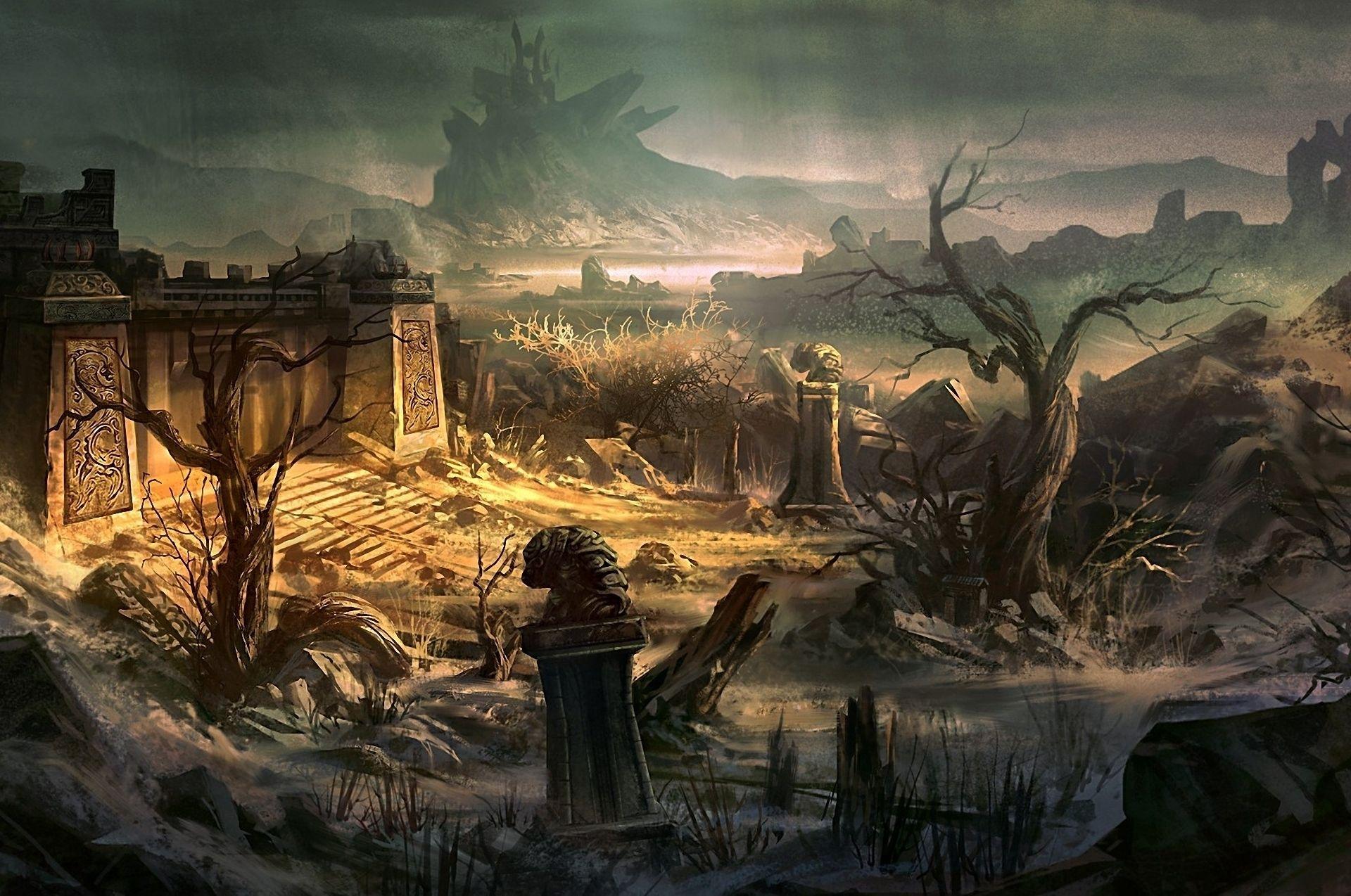 landscapes castles fantasy art - photo #47