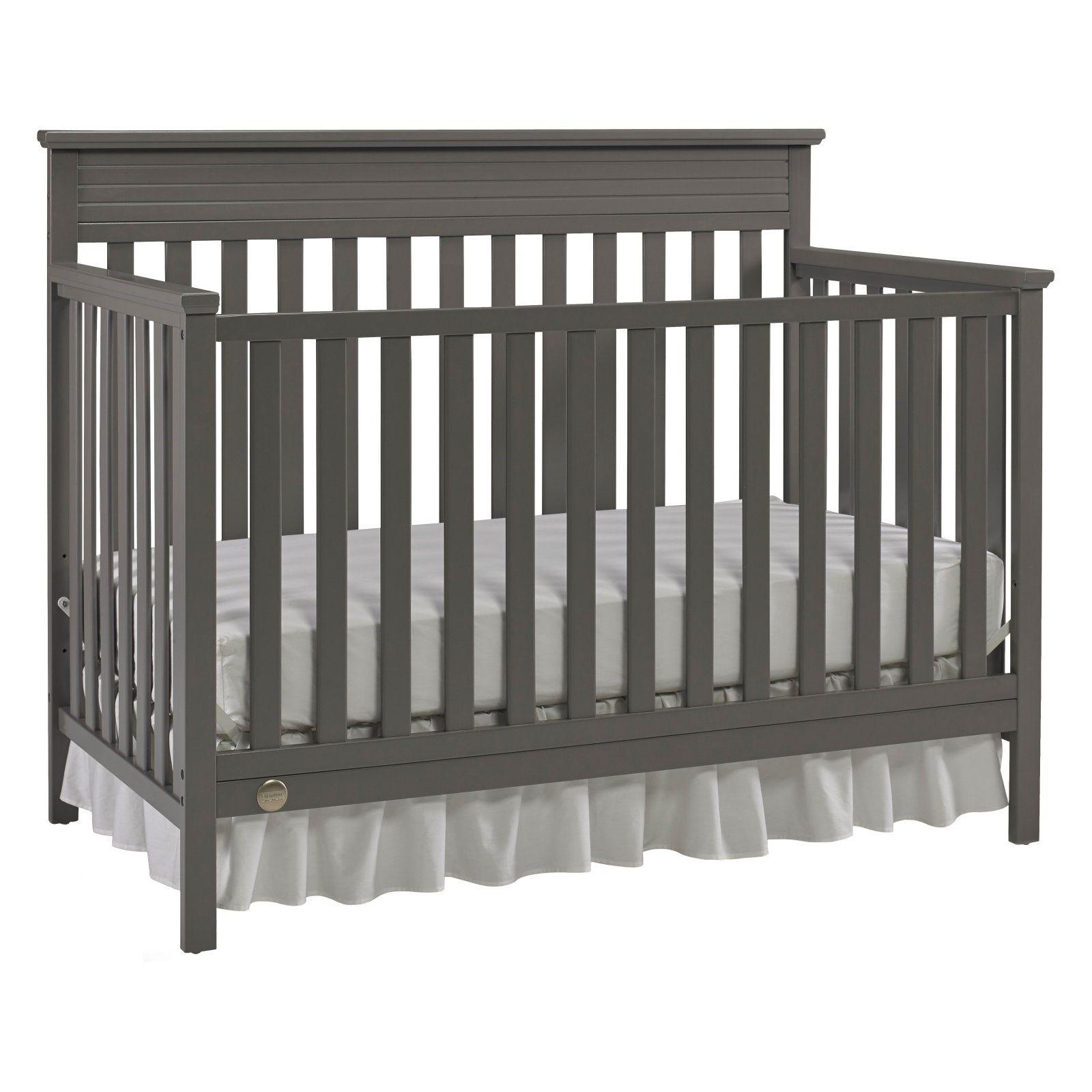 FisherPrice Newbury 4in1 Convertible Crib, Grey