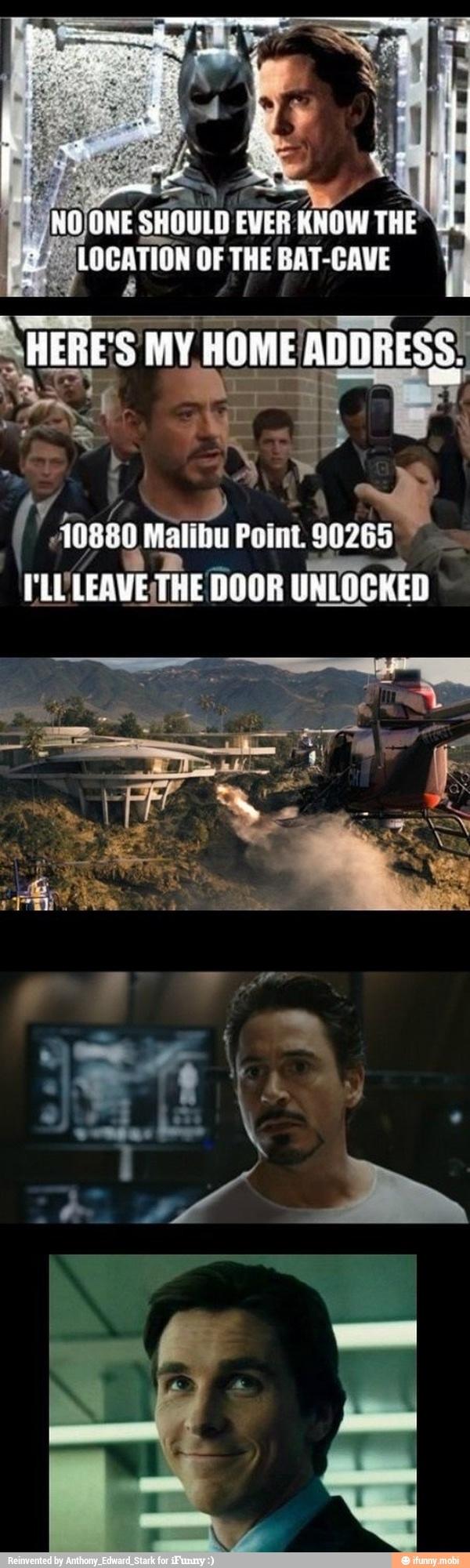 Iron Man vs Batman Funny memes, Funny
