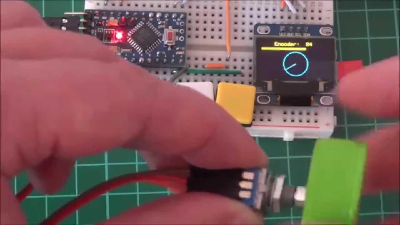 Arduino and rotary encoder example | 3D - Arduino, Esp 32 8266