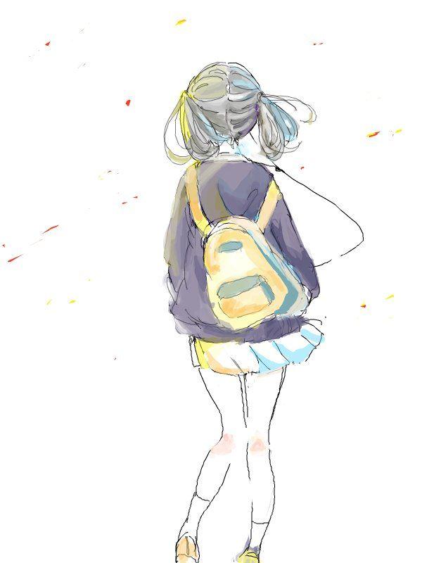 Amazing Anime Drawings   adorable, amazing, anime, art, back ...