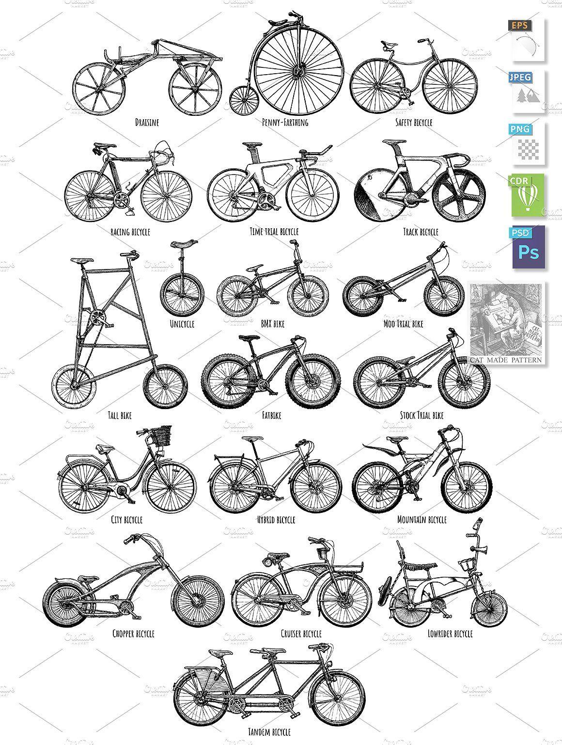 Types Of Bikes Bicycle Types Bike Bike Drawing