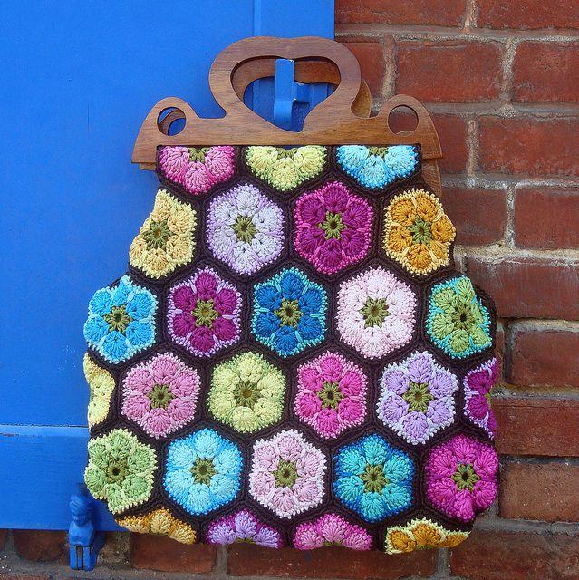African Flower bag