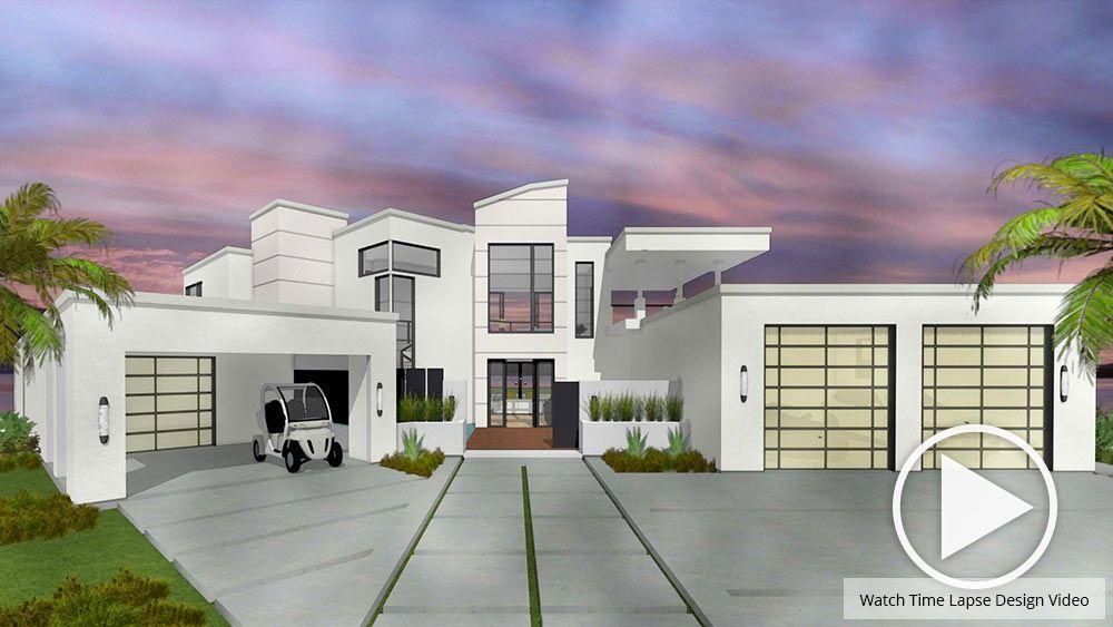 3d Rendering Of An Exterior Home Design In Watercolor Home