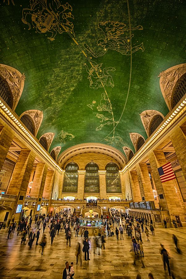 Grand Central Station, NYC. The Astrological Mural On It's