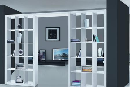 Libreria cartongesso divisoria cerca con google cartongesso library wall sweet home e - Mobili separatori ...