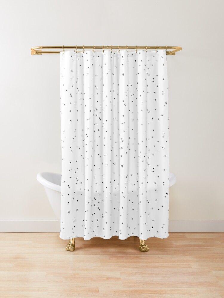 Little Stars Shower Curtain In 2020 Cotton Shower Curtain