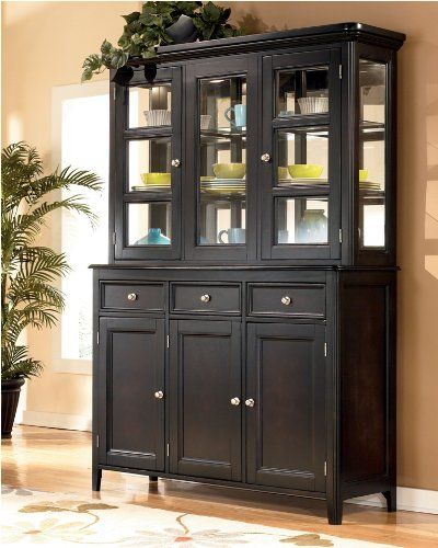 Carlyle Buffet With China Cabinet By Ashley Furniture 1080 00 Dining Room Design Dark Dining Room Dining Room Storage