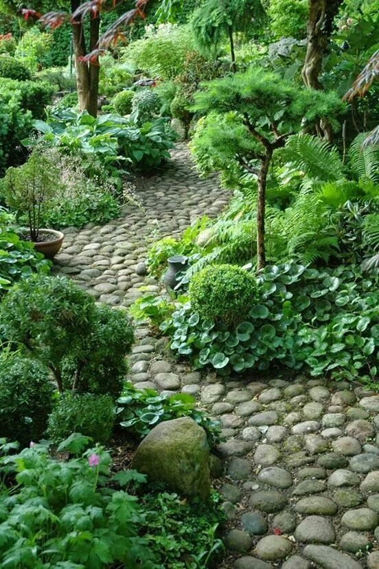 love the stone path Puutarha Pinterest Caminos jardin