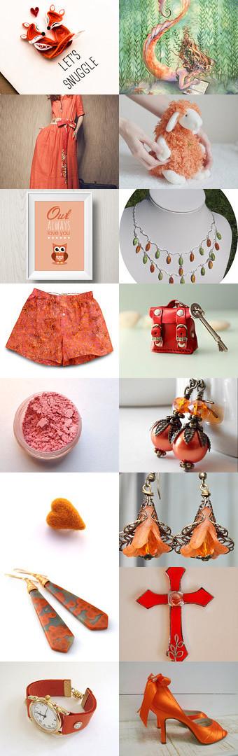 Orange Valentine by Lily Bhattacharya (Indigo/Crystal) on Etsy--Pinned with TreasuryPin.com