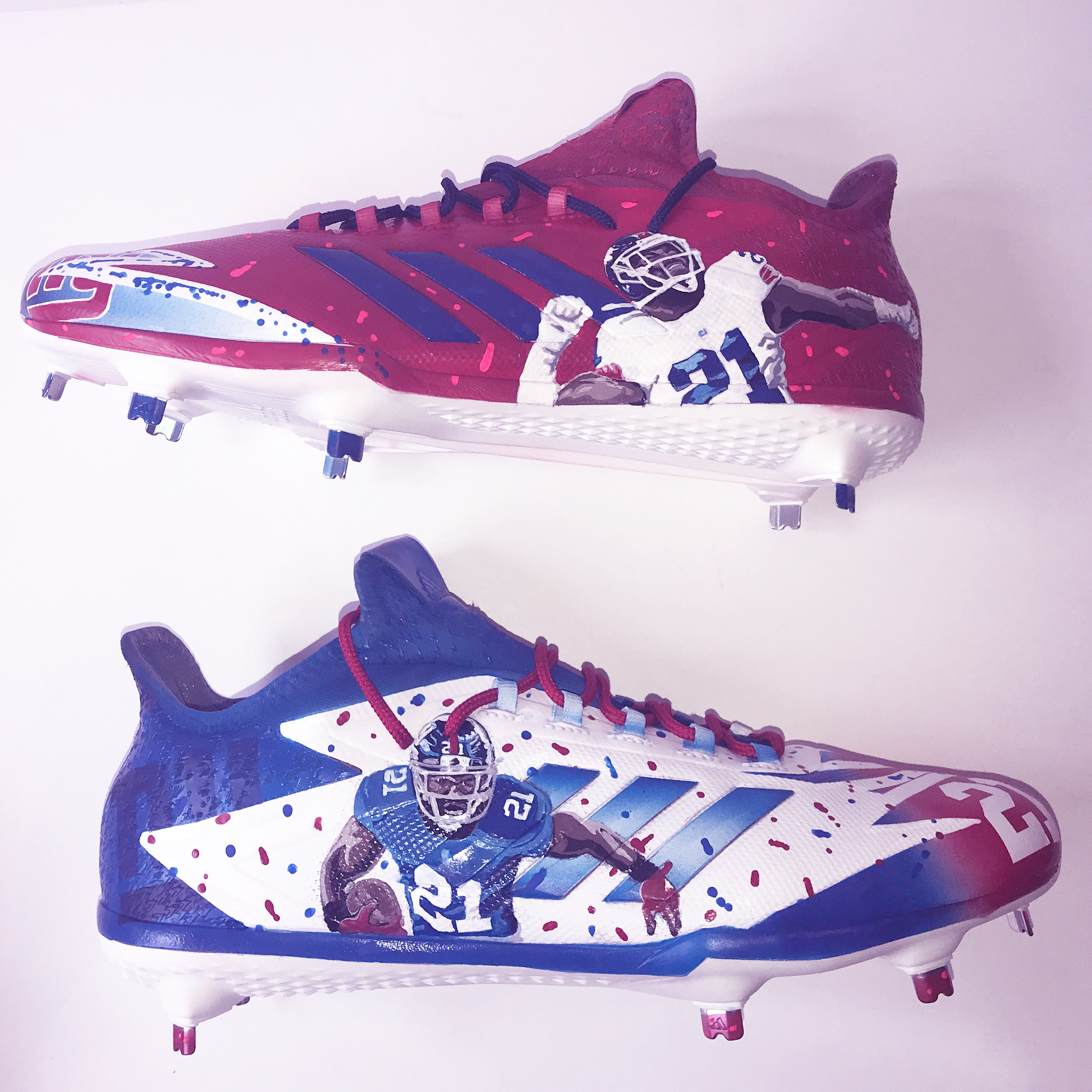 Custom Landon Collins Adidas Football Cleats we painted here at our 88  Custom Design shop e9ecf1d7c