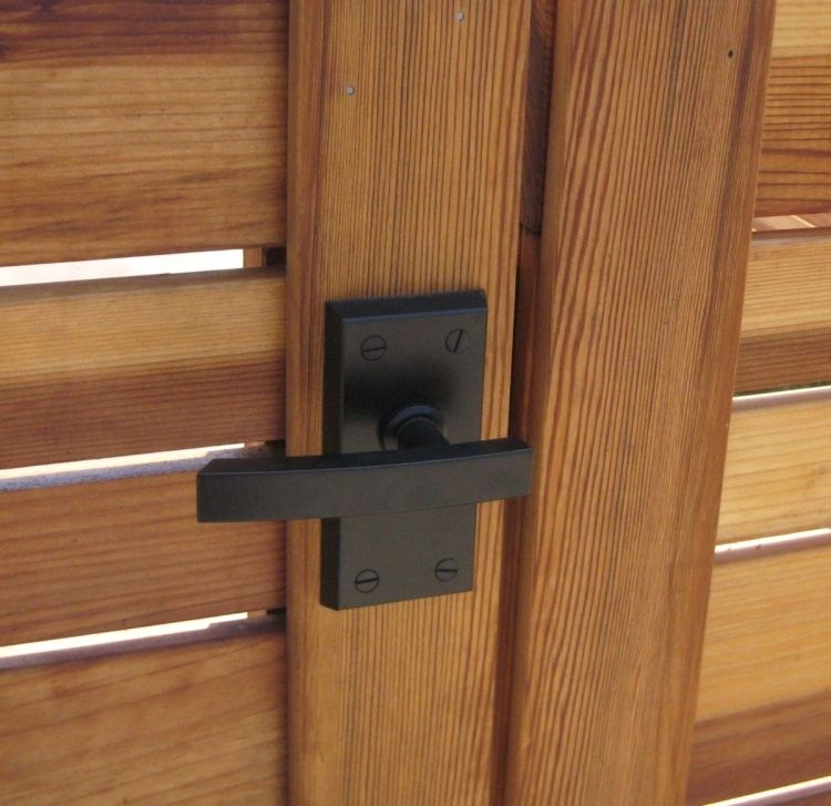 Nero Contemporary Lever Gate Latch Package For Double