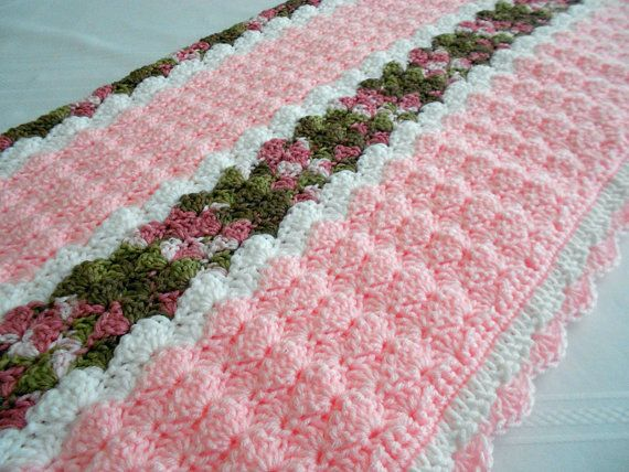 Crochet Pattern Cameron Baby Afghan Babyghan par PeachtreeCottage
