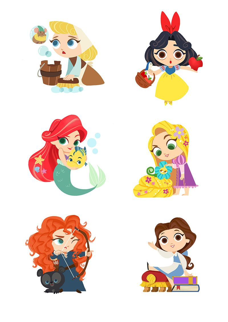 Disney Stickers On Behance Desenhos De Princesa Da Disney