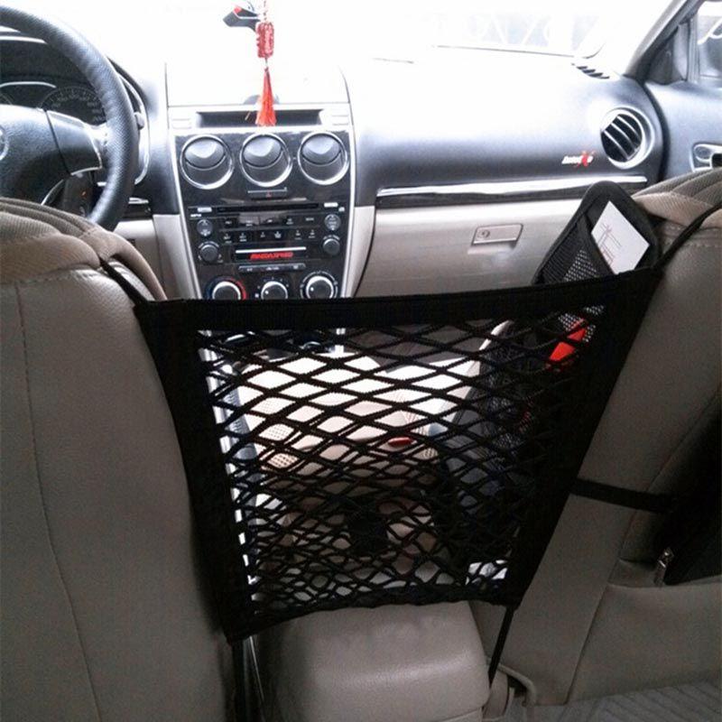 Universal Car Seat Back Storage Mesh Net Bag High Elastic