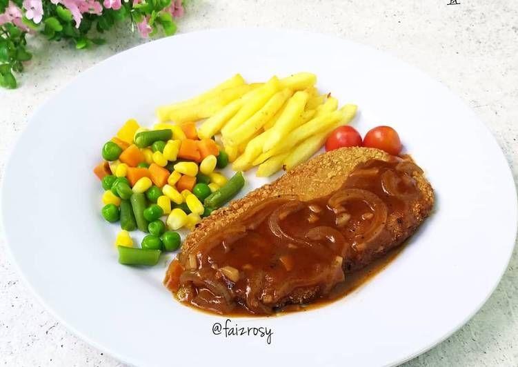 Resep Steak Tempe Oleh Faiz Rosyida Resep Resep Steak Saus Bbq Makanan