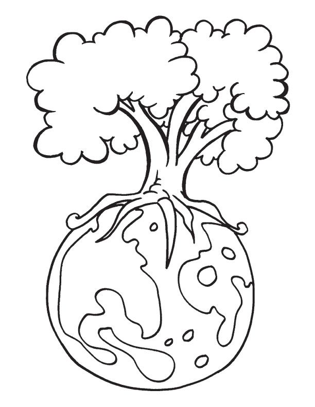 Protect Environment Is The Message Of The Earth Day Coloring Page - coloring pages for middle school science