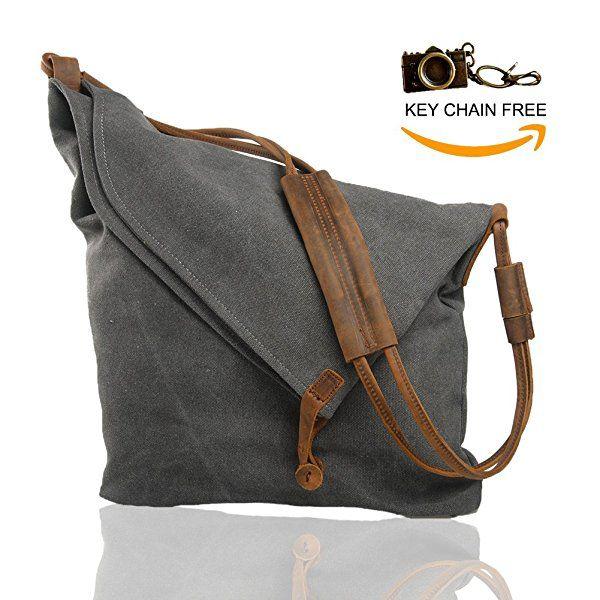 Crossbody Satchel Bags for Women Waxed Canvas Hobo Tote Handbags Unisex Vintage Men Large Travel Messenger Shoulder Bag Purse (Beige)