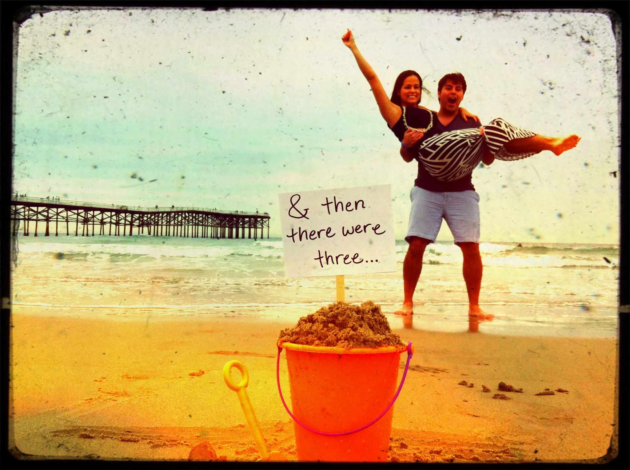 Awesome Beach Baby Announcement Baby Surprise