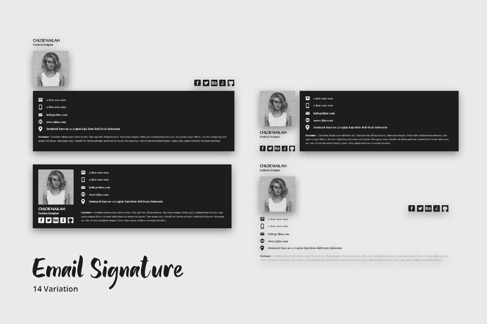 Email Signature Template Web Elements Creative Market