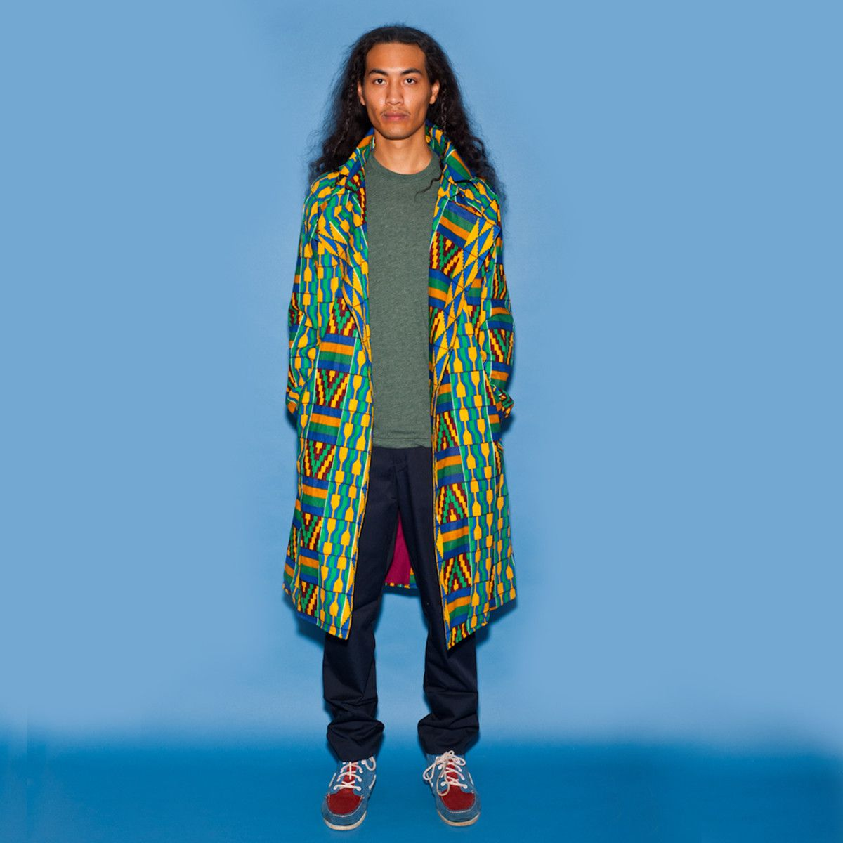 Awesome « Fab.com | Kente Trench Coat Men's