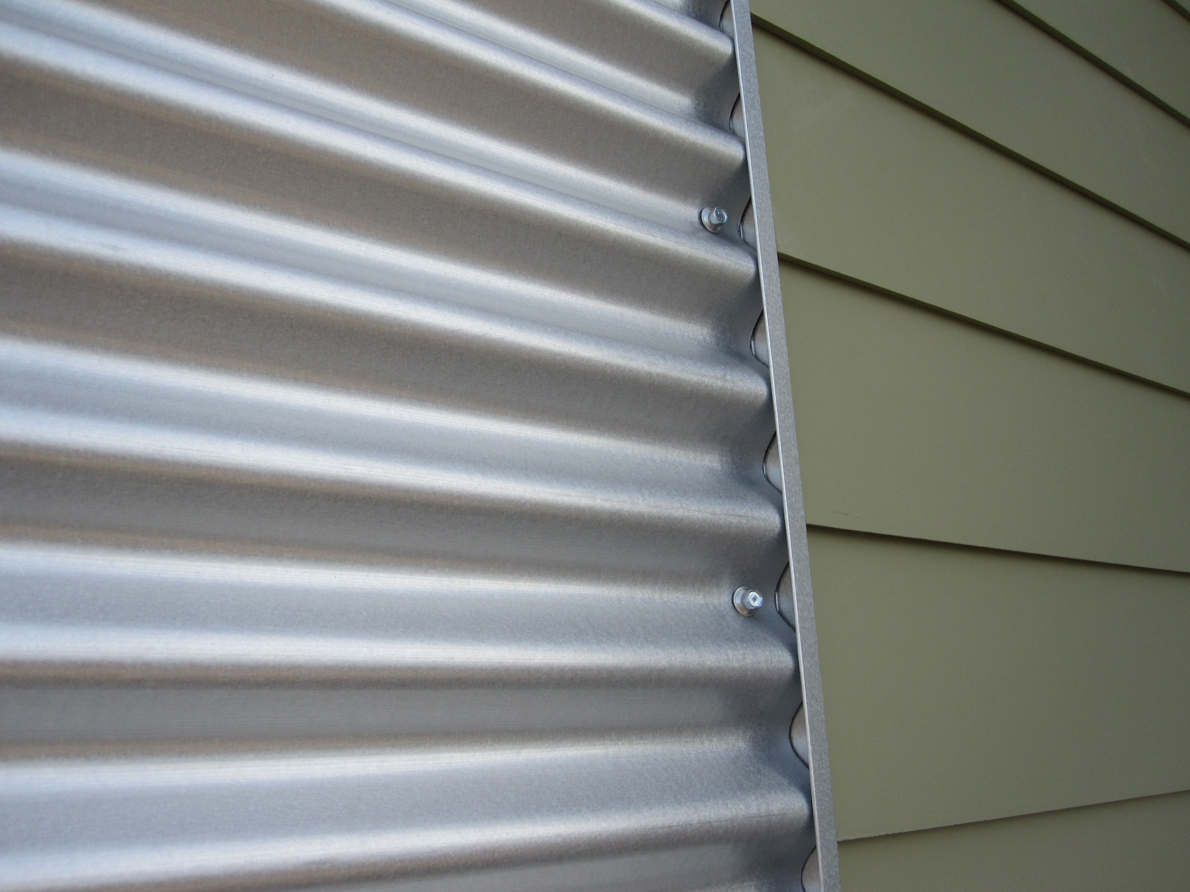Images about corrugated metal on pinterest - Vinyl Siding With Modern Corrugated Metal Very Unique Look