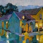Larisa Aukon, Rain, oil, 24 x 30.