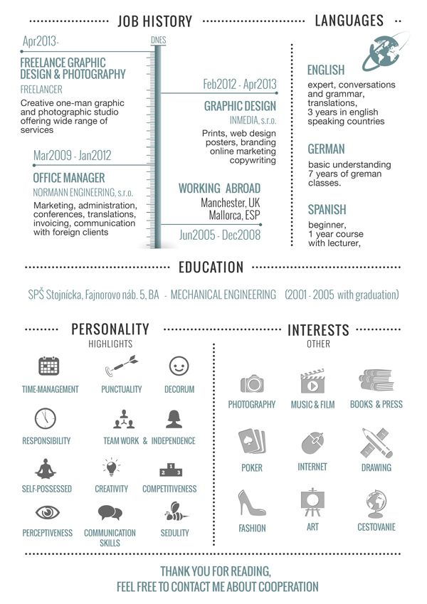 30+ Examples of Creative Graphic Design Resumes (Infographics - photography resume sample