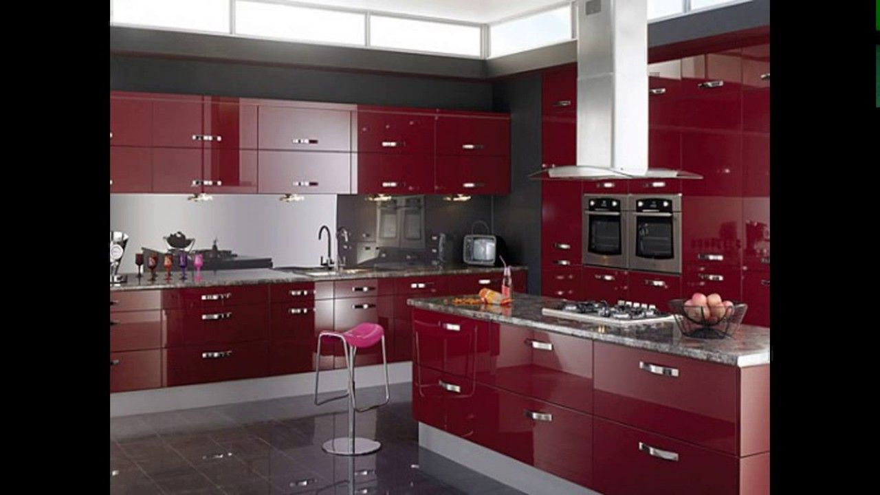 Red Cherry Wood Kitchen Cabinets Cherry Wood Kitchens Kitchen Craft Cabinets Kitchen Remodel Small