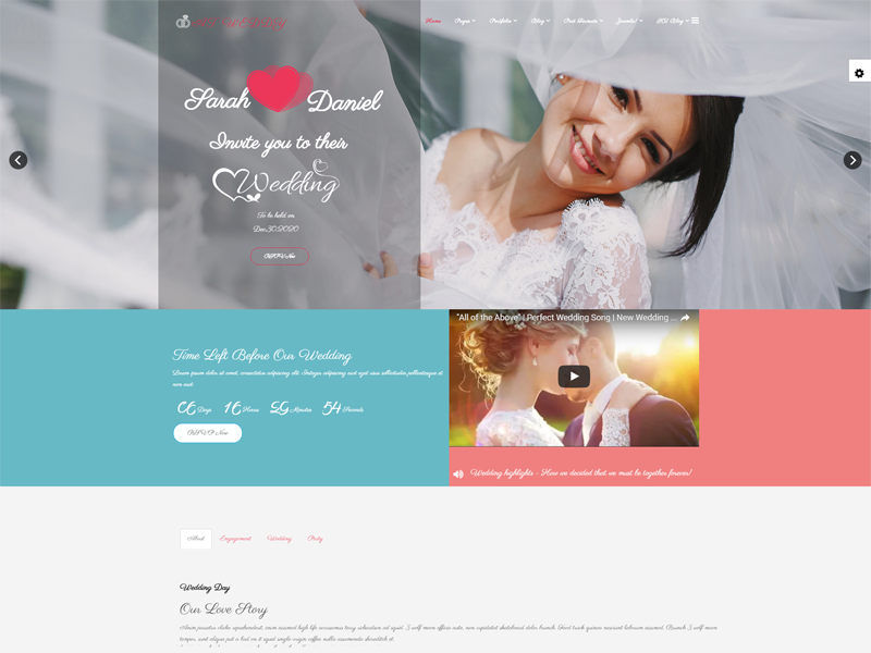 AT Weddy Is Free Wedding Website Template A Wedding Is A Special - Free wedding website templates