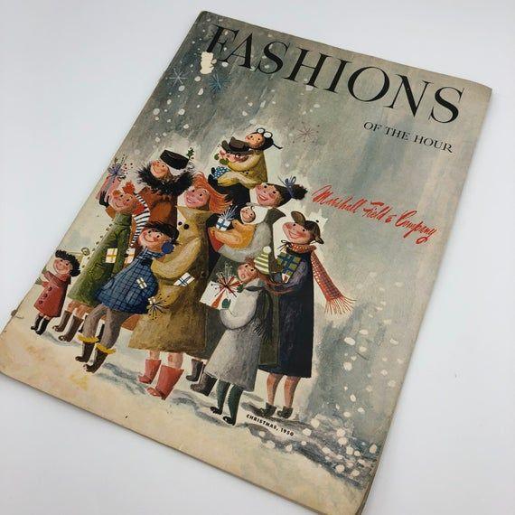 Vintage 1950s Marshall Field & Company Fashions Of The Hour Christmas Catalog #decopodge