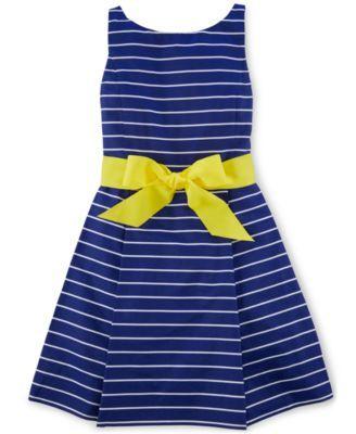 423344df7305 Ralph Lauren Girls' Striped Fit-And-Flare Dress | macys.com | Girls ...