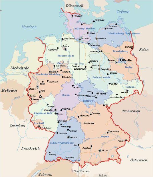 Länder Grenzen An Deutschland