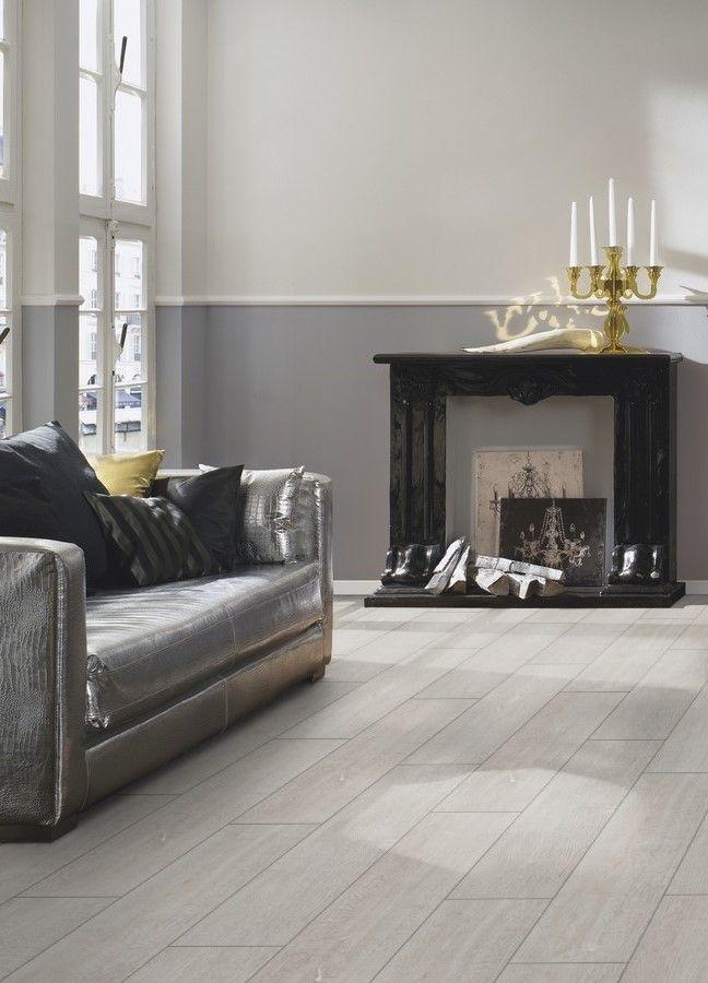 El #suelo #laminado Roble Blanco Gris, de la colección Breeze Line
