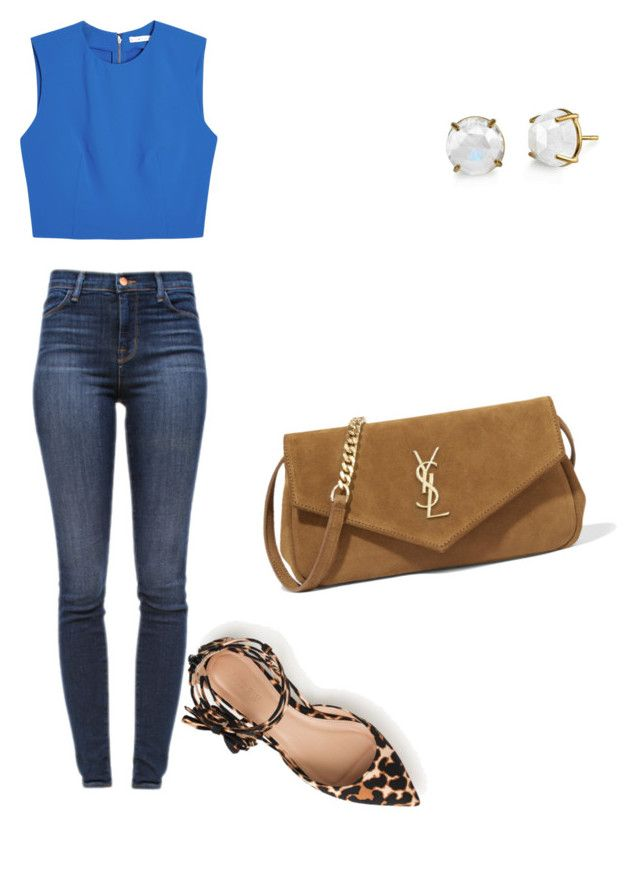 """""""Untitled #472"""" by qianatucker ❤ liked on Polyvore featuring J Brand, Alice + Olivia, J.Crew, Yves Saint Laurent and Irene Neuwirth"""
