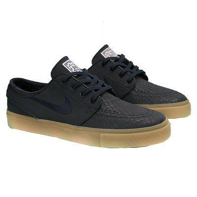 quality design 1ea80 1d070 Nike SB Zoom Stefan Janoski L Mens 616490-441 Obsidian Gum Skate Shoes Size  10