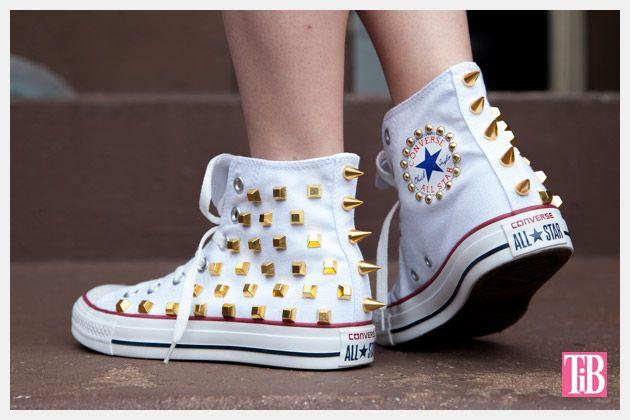 DIY Studded Converse   Diy converse, Shoe makeover, Studded