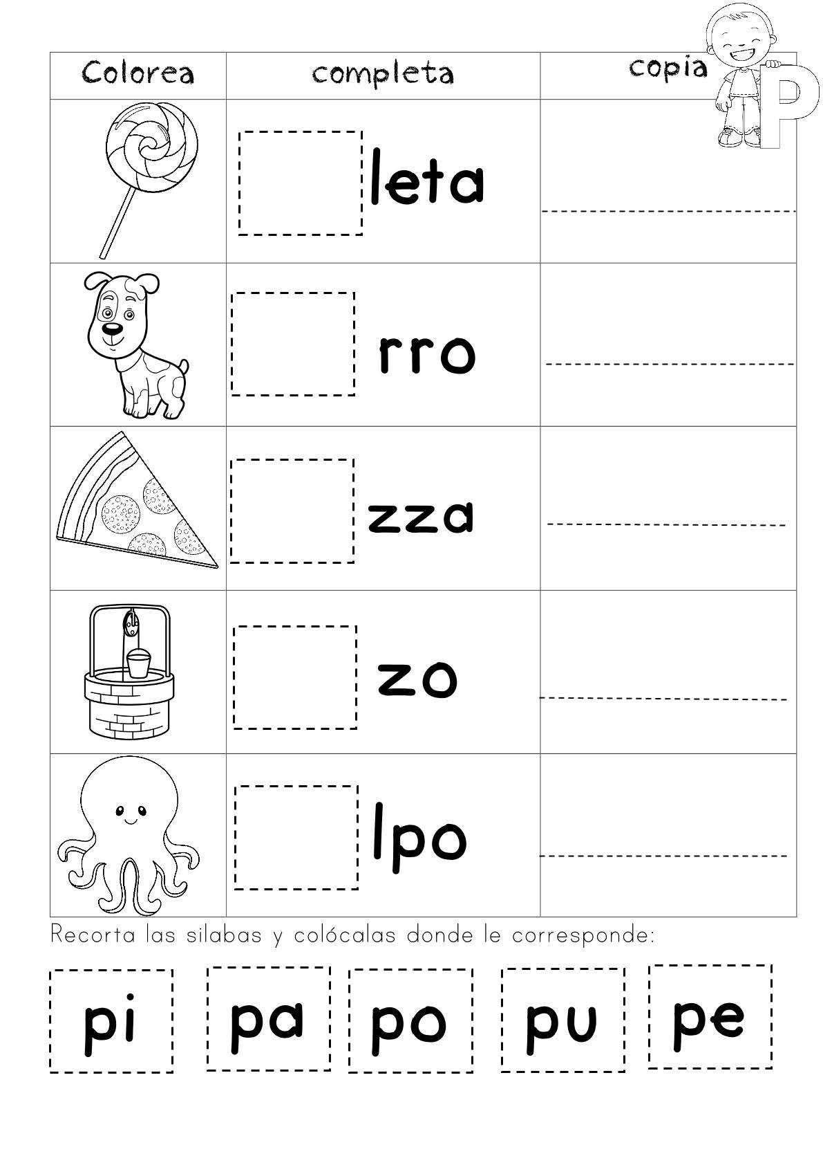 Pin En Actividades De Lectura Preescolar