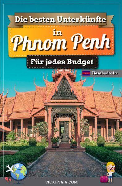 Planst du eine Reise nach #Kambodscha? Dann steht die Hauptstadt Phnom Penh sicherlich auch auf deiner Reiseroute. Hier erfährst du wie du die beste Unterkunft in Phnom Penh findest, die perfekt zu dir passt. #PhnomPenh #Reisen #vickiviaja