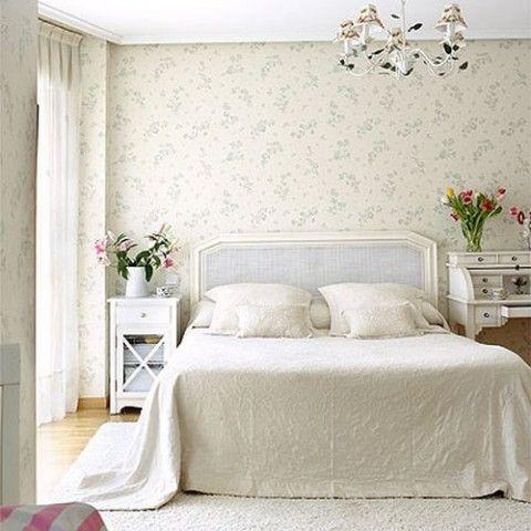 Habitaciones con papel pintado Renovacin Papel pintado y Pintar