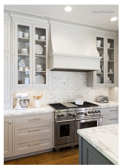 The see through cabinets. | Grey kitchen designs, Grey ...