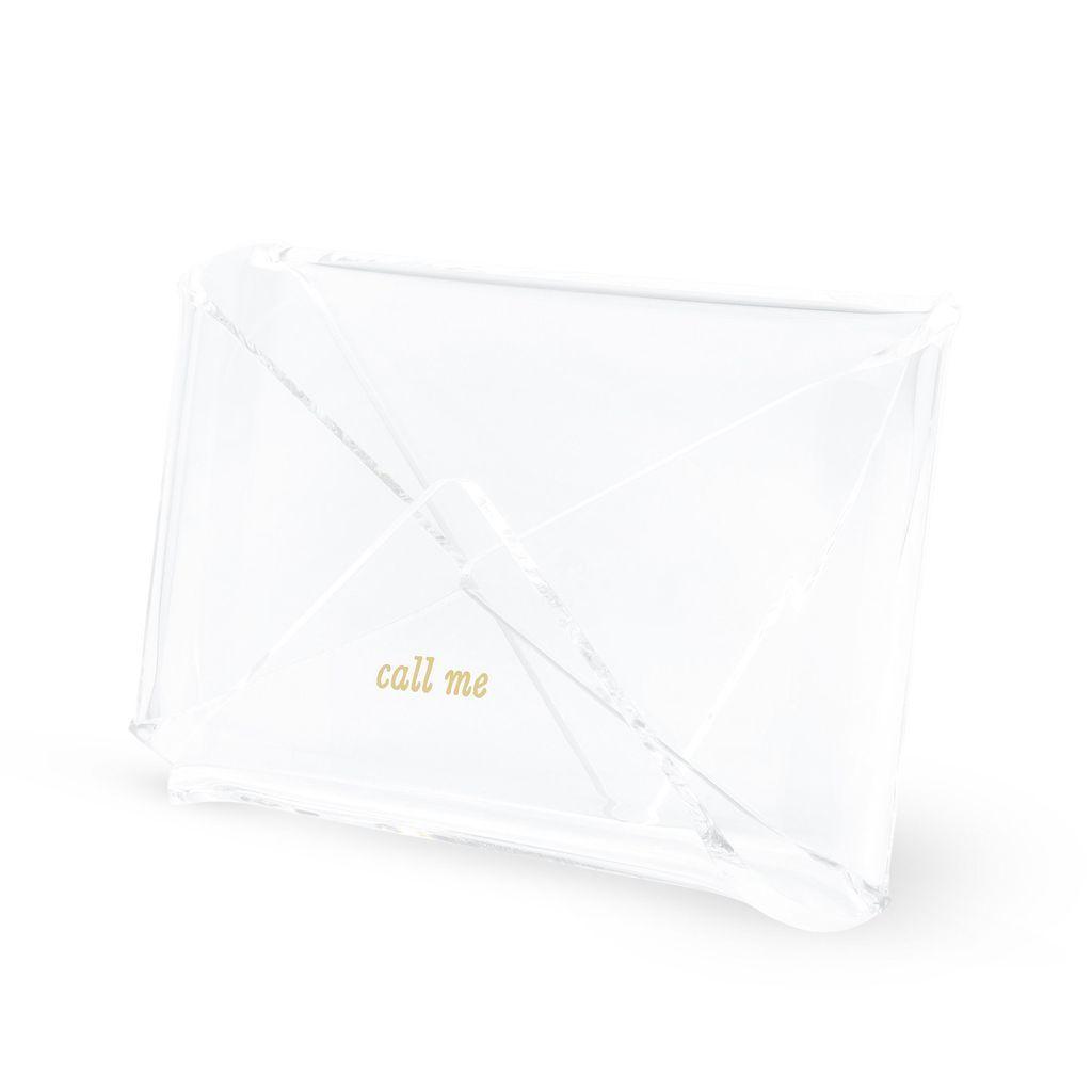 Kate Spade New York Acrylic Business Card Holder Strike Gold Gold Business Card Business Card Holders Card Holder